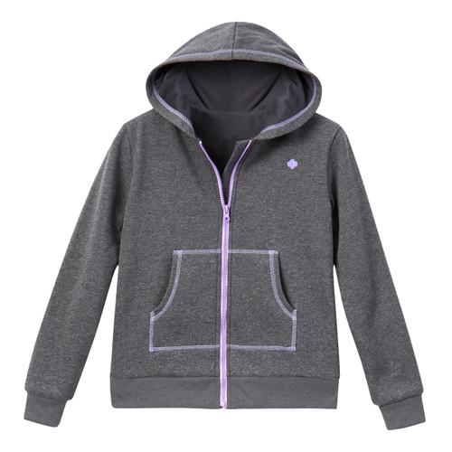 Charcoal Zip-Up Hoodie