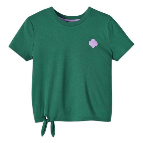 Side Tie Trefoil T-Shirt