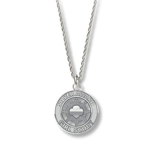 Silver Award Necklace