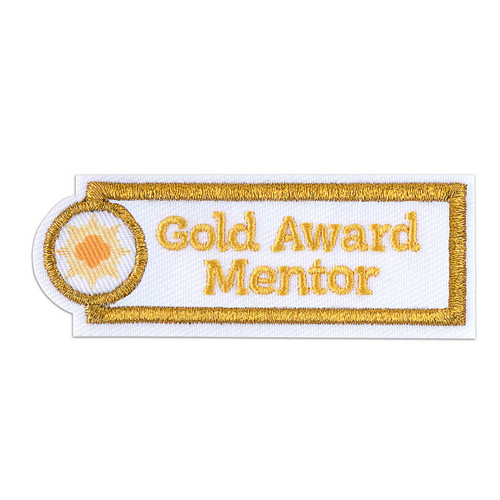 Gold Award Mentor Sew-On Patch