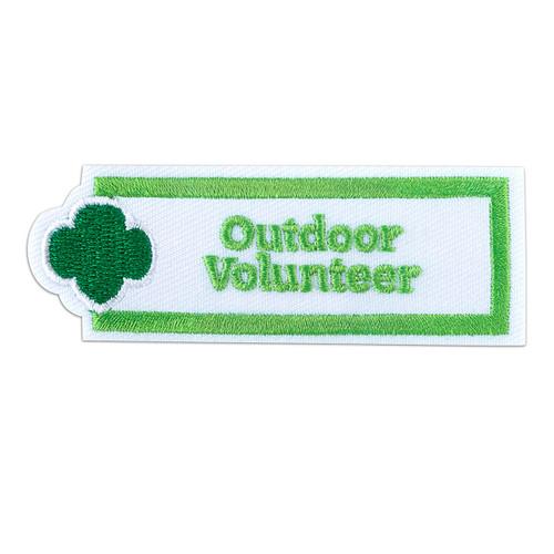 Outdoor Volunteer Sew-On Patch