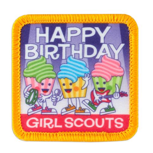 Happy Birthday Cupcake Band Sew-On