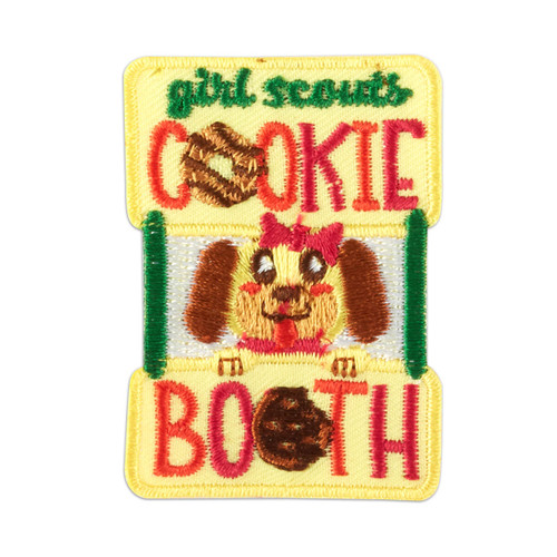 Cookie Booth Dog Iron-On Patch