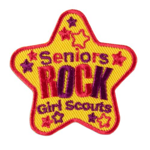 Seniors Rock Star Iron-On Patch