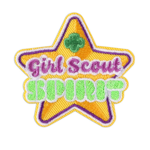 Girl Scout Spirit Iron-On Patch