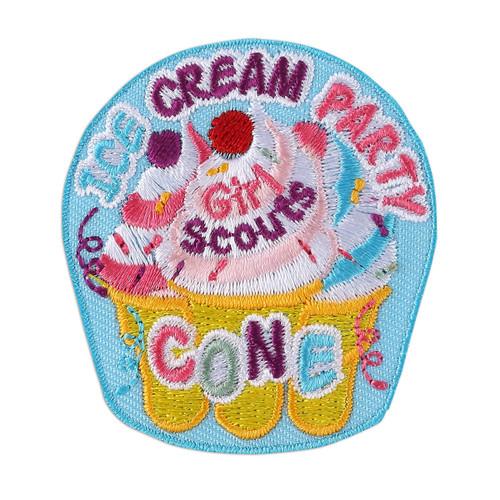 Ice Cream Party Fun Iron-On Patch