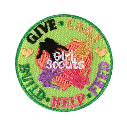 Giving Back Iron-On Patch