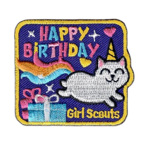 Unicorn Cat Birthday Fun Patch