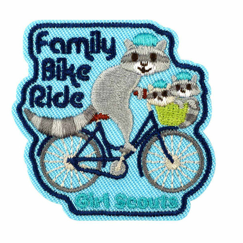 Family Bike Ride Iron-On Patch
