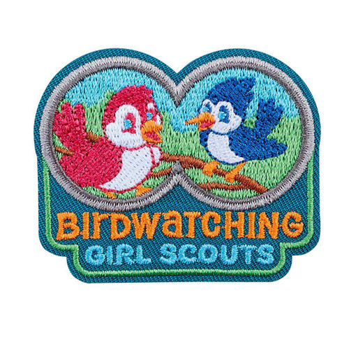Bird Watching Iron-On Patch