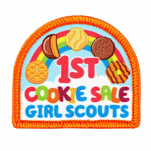 1st Cookie Sale Rainbow Sew-On Patch