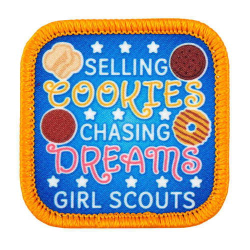 Selling Cookies Chasing Dreams Sew-On Patch