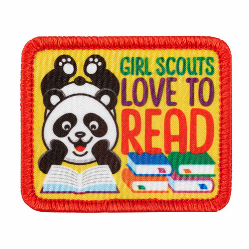 Girl Scouts Love to Read Sew-On Patch