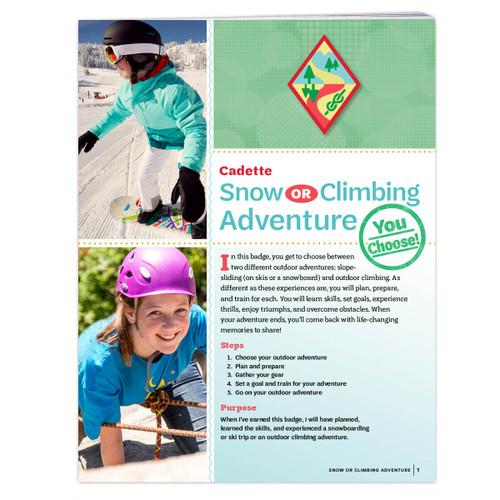 Cadette Snow Or Climbing
