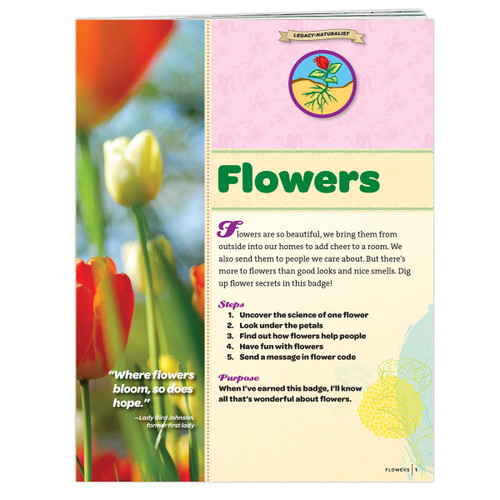 Junior Flowers Badge Requirements