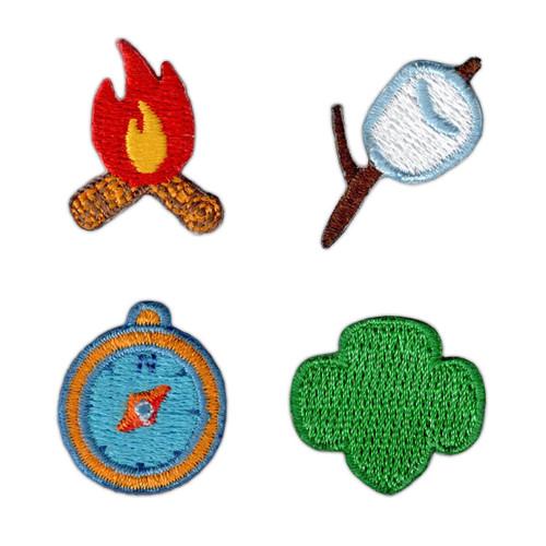 Girl Scout Camp Mini Patch Set