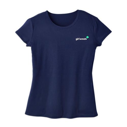 Navy Trefoil T-Shirt – Misses
